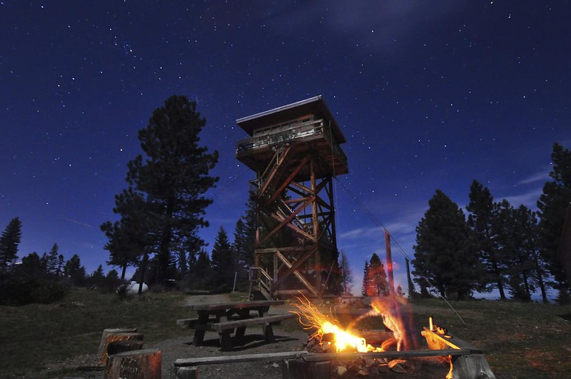 Campfire at the lookout
