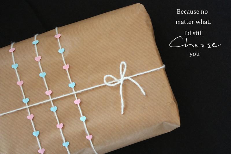 lahjapaketti rakkaalle