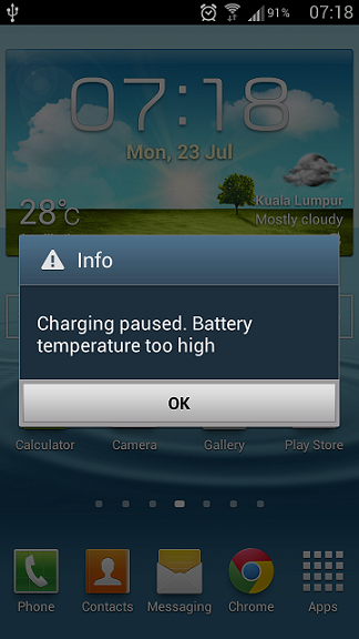Charging paused