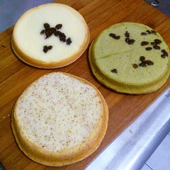 cakes. Raisin, green tea with red bean, and i think barley? | Flickr ...