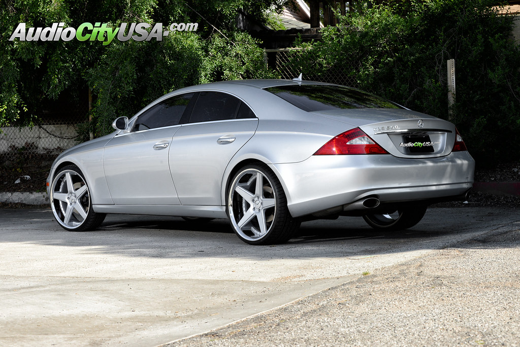 2007 Mercedes Benz Cls 550 On 22 Quot Azad A0008 Silver Face