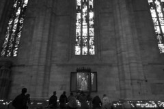 Milan - Duomo praying