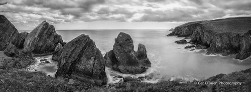 longexposure ireland bw panorama seascape water clouds landscape blackwhite nikon rocks cove pano cork panoramic eire kinsale slowshutter 52 week11 d610 2470 nohoval nohovalcove leefilters project52 niksoftware bigstopper