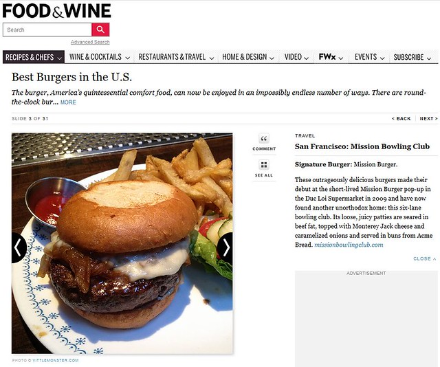 Food & Wine: Best Burgers in the US