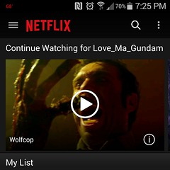 Funniest Damn thing on #netflix, having an intermission movie while getting dinner ready and #wolfcop is hilarious, where can I sign up...
