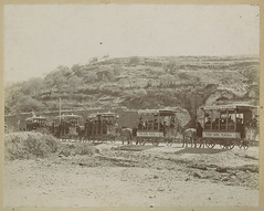 [American Tourists Riding in Mule-drawn First Class Open Rail Cars of the Ferro-carril Tlaxcala]