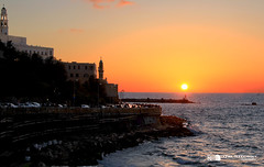 Jaffa sunset view