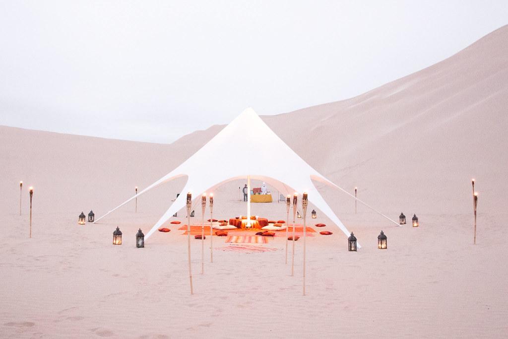 Dinner at Paracas Sand Dunes, Peru