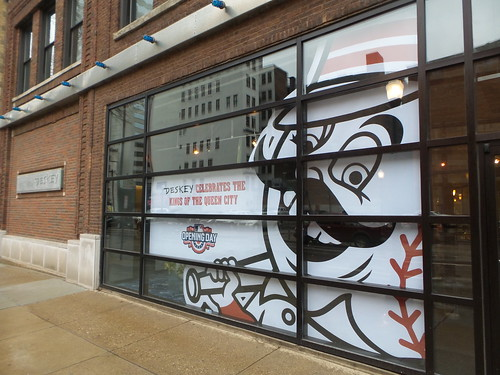 Deskey Reds Opening Day windows