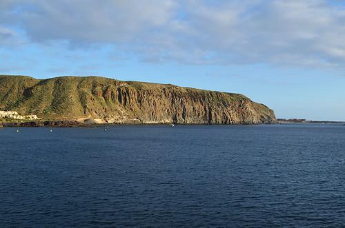Guaza cliffs from Los Cristianos, Tenerife