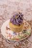 lavender + lemon cupcake