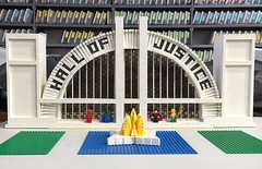Meanwhile at the #lego #hallofjustice ... Should be ready for #artawhirl at #brickmania !