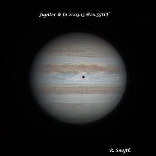 Jupiter & Io in Transit RRGB Image