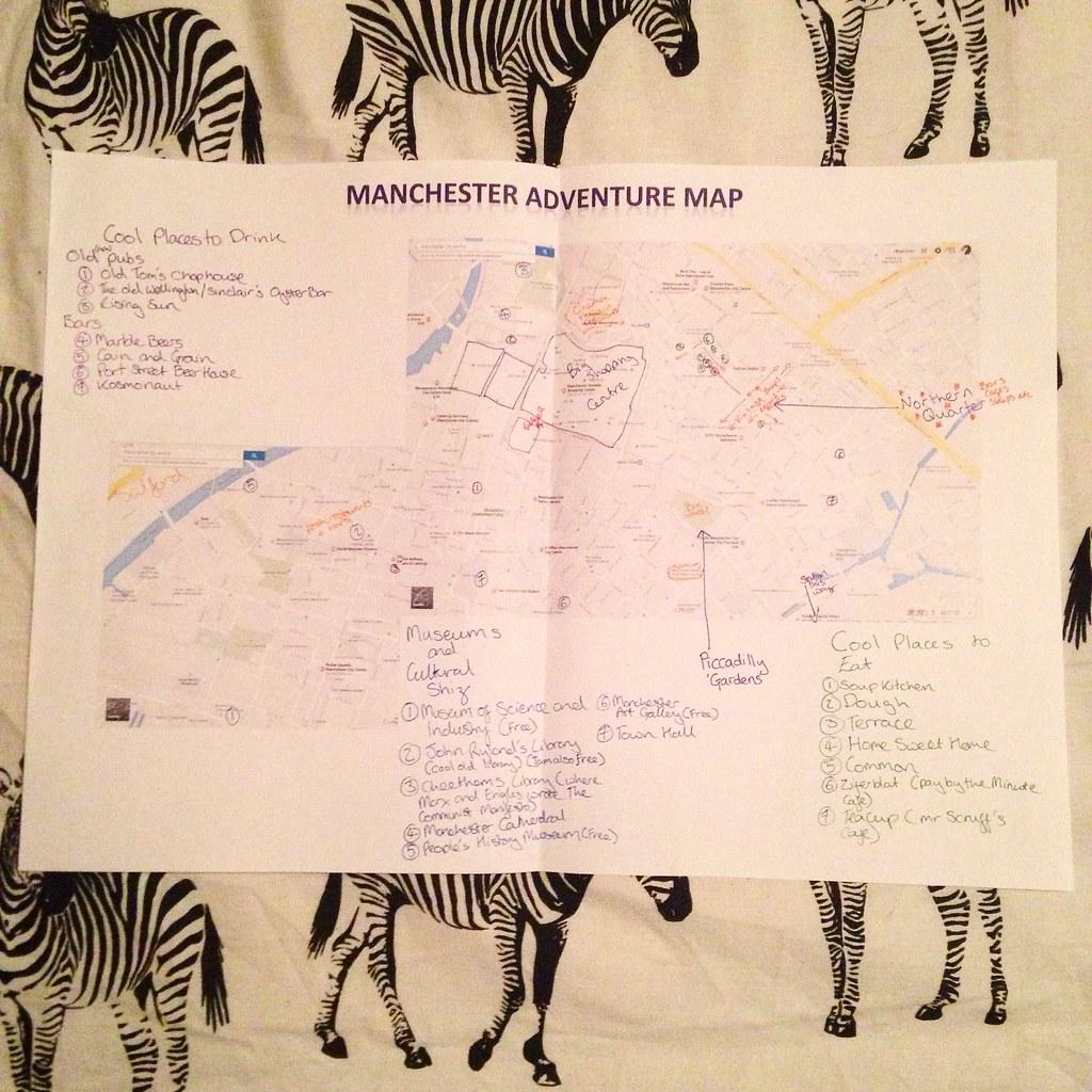 Manchester adventure map