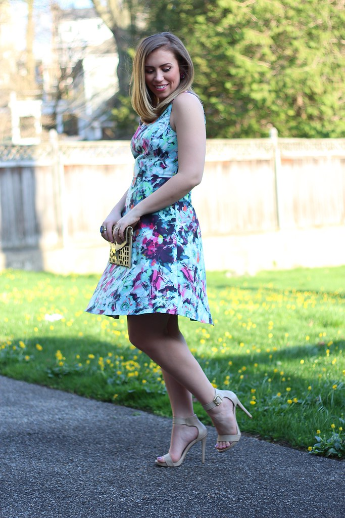 Full Bloom | Floral Spring Dress | #LivingAfterMidnite