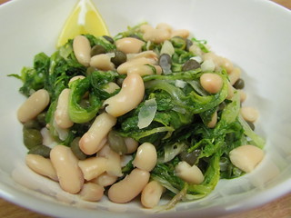 Escarole with Capers and White Beans