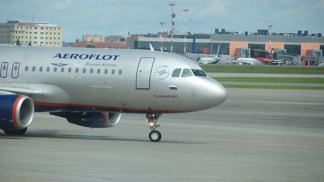 Aeroflot Airbus A320 Moscow Sheremetyevo Airport, terminal D
