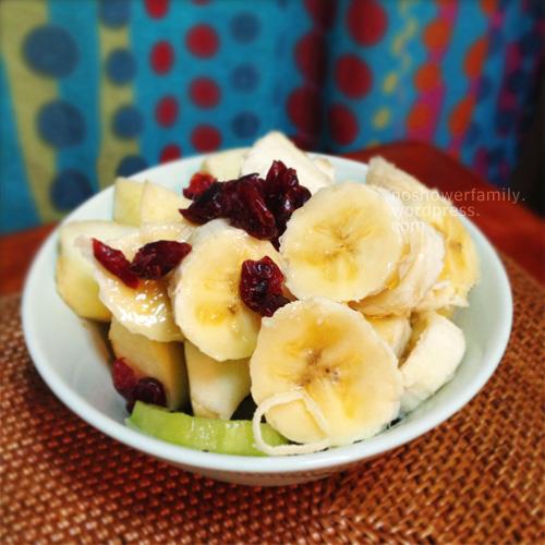 banana+kiwi+cranberry