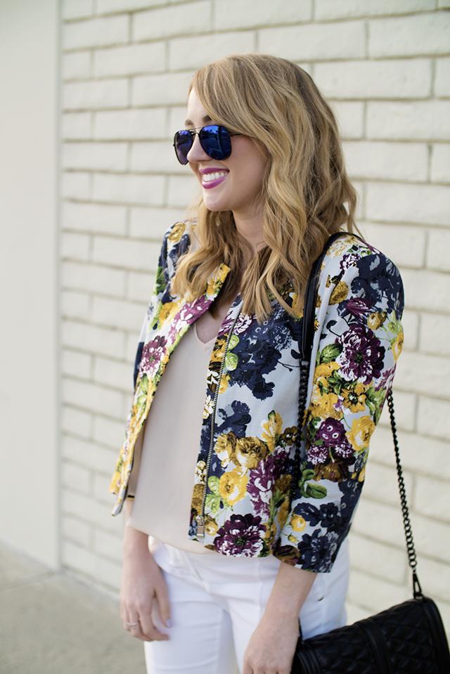 river island floral jacket