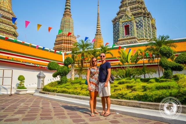 A Cruising Couple at Wat Pho Bangkok Thailand