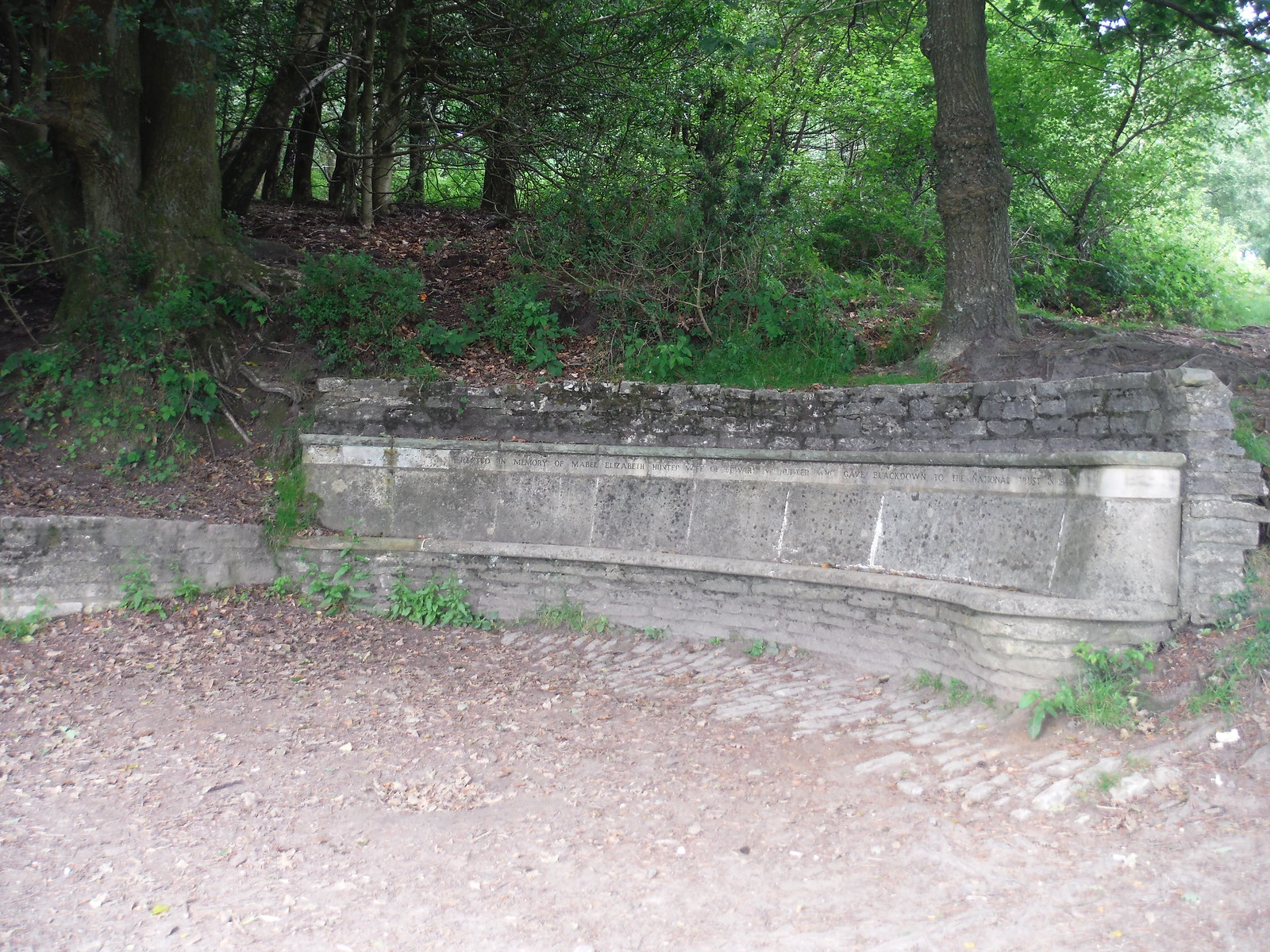 Memorial Bench at Temple of the Winds Viewpoint SWC Walk 48 Haslemere to Midhurst (via Lurgashall or Lickfold)