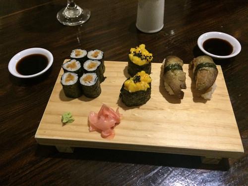 Arequipa: makis et sushis végétariens à la patate douce, mangue et aubergine