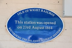 Photo of Sandown railway station blue plaque