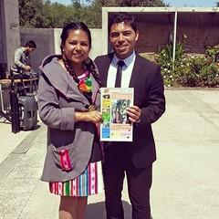 Nuestra directora junto al concejal de La Serena Pablo Yañez #todosleemosajayu