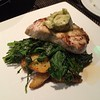 Swordfish, with crispy kale and fingerling potatoes.