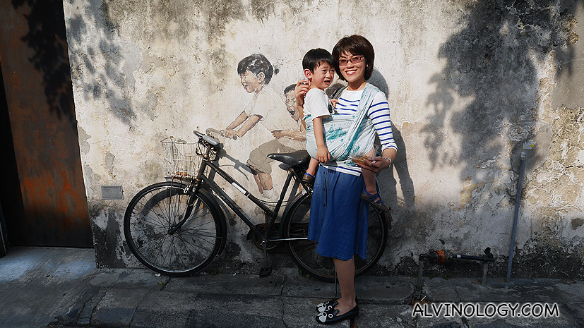 That famous mural in Penang