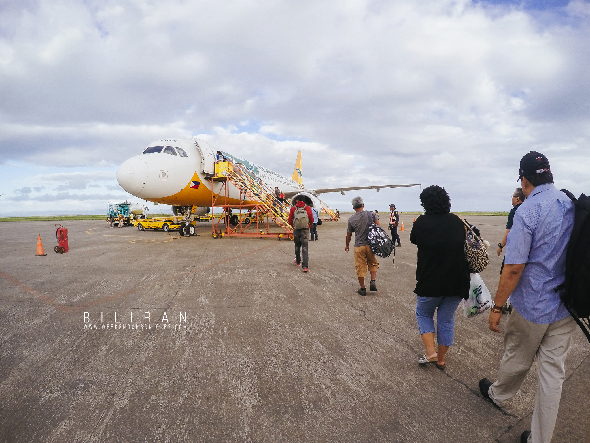 Tacloban Airport. This was actually our flight back home.
