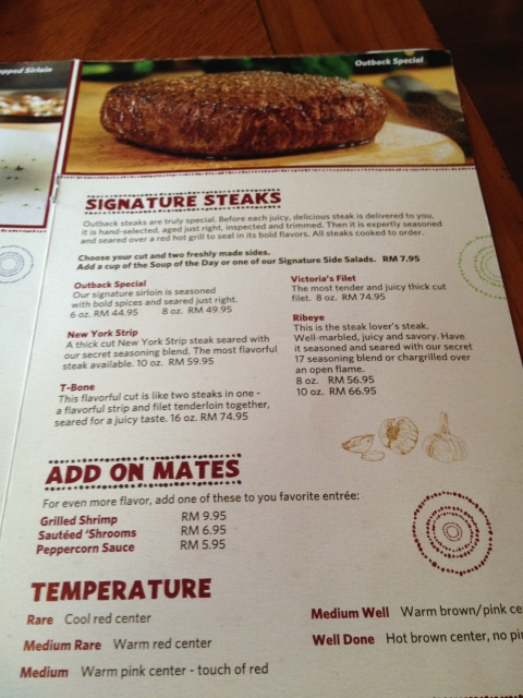 photograph regarding Outback Steakhouse Printable Menu known as Outback steakhouse lunch menu deals - Where by can i get a