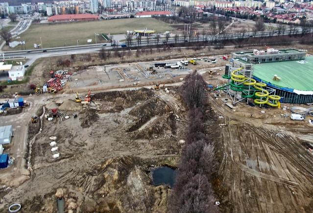 Koszalin aqua-park in construction, Nikon COOLPIX S30