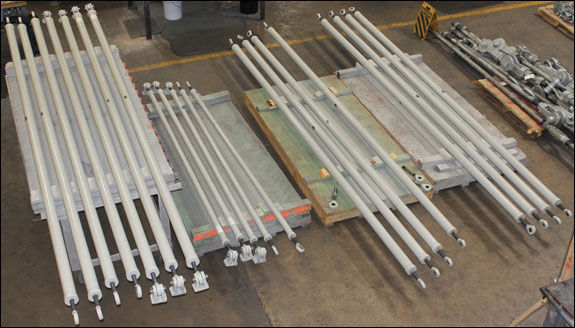 14 Foot Long Sway Struts Custom Designed for a Gas Facility in Canada