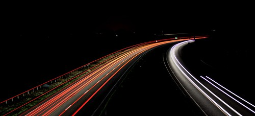 uk bridge winter light red white motion black cold art cars colors night speed canon dark landscape photography sussex movement long exposure seasons shot traffic horizon tripod creative trails images east explore cameras shutter dslr distance polegate a22 bypas 60d