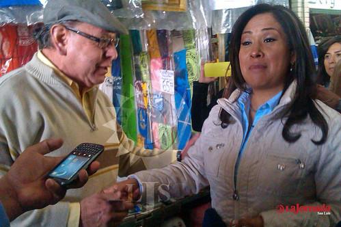 Sonia Mendoza en el mercado república