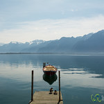 Stillness at Lake Geneva - Montreux, Switzerland