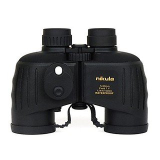 Nikula 7x50 Waterproof and Night Vision Navy Binoculars Telescope with Rangefinder