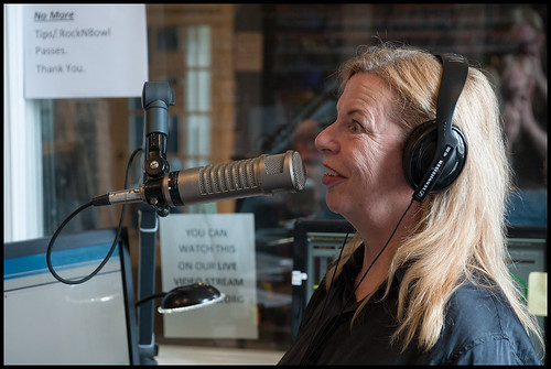 Olivia Greene on the air. WWOZ 2015 Spring Pledge Drive day 9. photo by Ryan Hodgson-Rigsbee www.rhrphoto.com