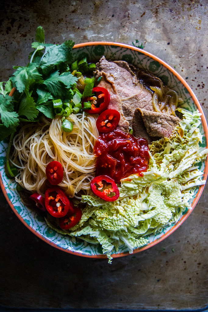 Spicy Beef Asian Noodle Soup