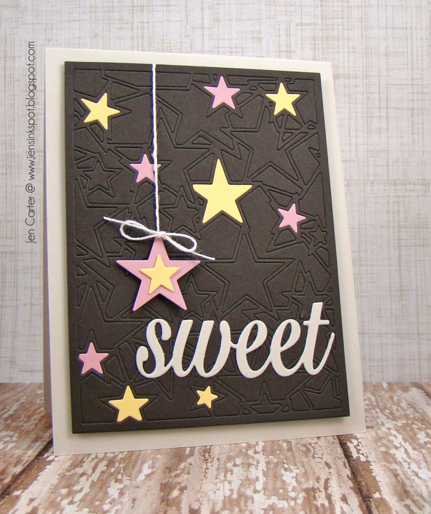 Jen Carter Frantic Stamper Sweet Star Card Panel