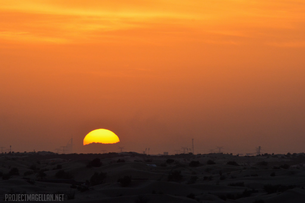 Sunset, Desert Safari, Burj Al Arab, Dubai, United Arab Emirates, UAE