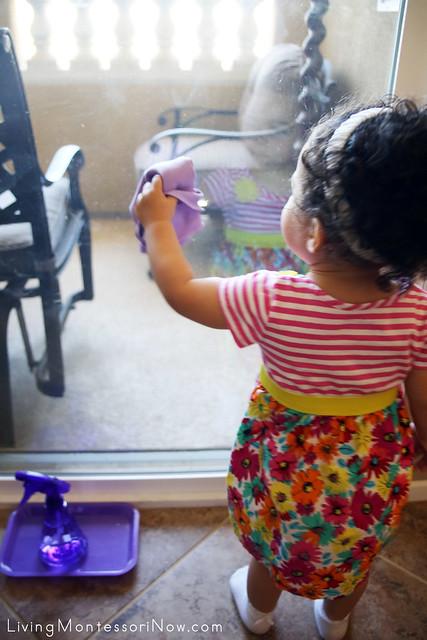 Toddler Window Washing (16 months old)