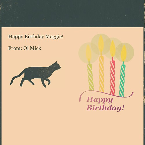 Happy Birthday maggie!