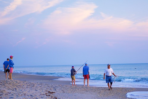 ocean fish beach sunrise dawn fishing florida fishingpole indalantic