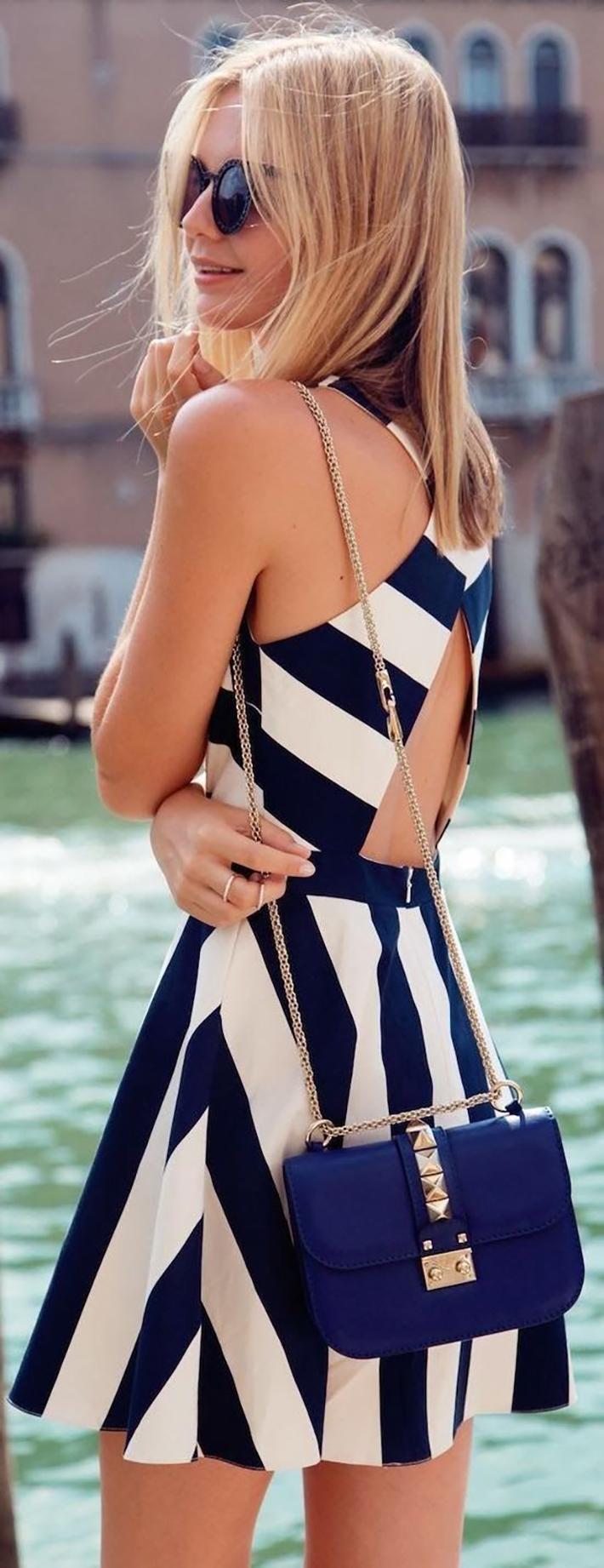 Stripes Navy Style Inspiration Streetstyle12