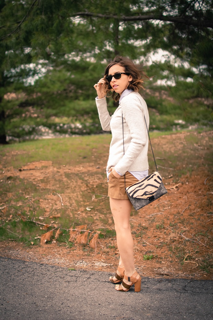 aviza style. a viza style. andrea viza. fashion blogger. dc blogger. spring style. spring trend. suede. spring layers. suede shorts. ootd. outfit. 7