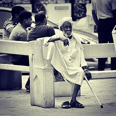 #playing the #waiting #game #bazaar #Muharraq #suq #Bahrain #evening #bench #old #man #ancient #looks #lonely #loneliness