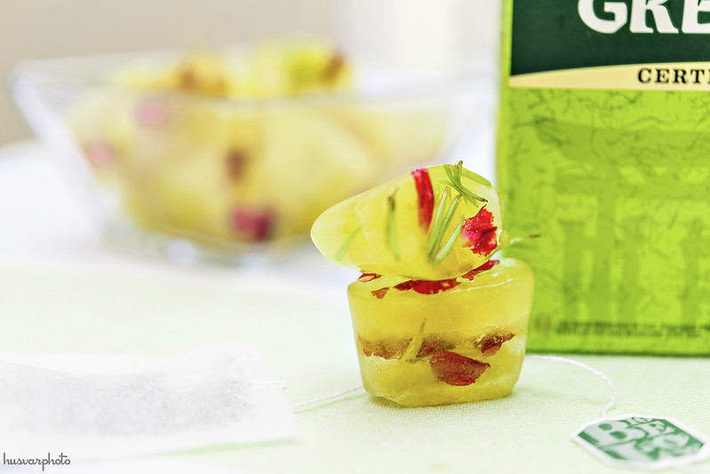 green tea cucumber depuffing ice cubes #americastea