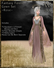 Fantasy Forest Gown Set-Rose_Promo Art